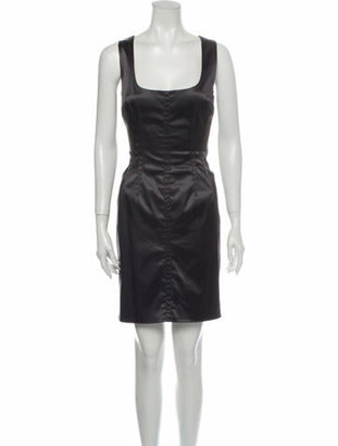 Dolce & Gabbana Square Neckline Mini Dress Grey