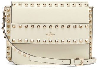 Valentino Rockstud Leather Cross-body Bag - Womens - Ivory