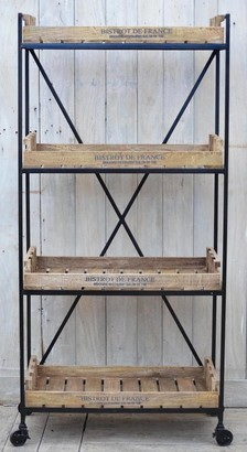 Phil Bee Interiors Industrial Bistrot De France Shelving Unit