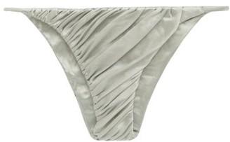 Isa Boulder Idris Ruched Bikini Briefs - Light Green