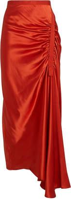 CHRISTOPHER ESBER Gathered Silk Charmeuse Skirt