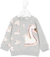Stella McCartney Swan print sweatshirt - kids - Cotton - 6 mth