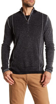 Autumn Cashmere Inked Zip Mock Neck Cashmere Pullover