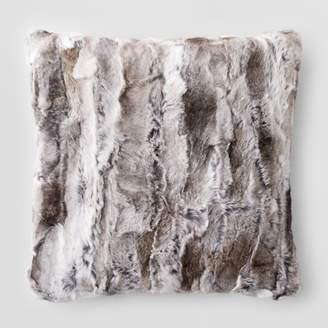 "Adrienne Landau Goma Rabbit Fur Decorative Pillow, 20"" x 20"""