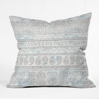 "Bodhi East Urban Home Schatzi Paisley Sandy Throw Pillow East Urban Home Size: 16"" x 16"""