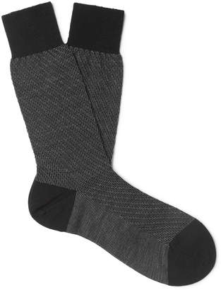 Pantherella Dagnall Striped Merino Wool-Blend Socks
