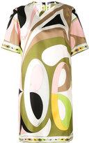 Emilio Pucci short sleeve printed dress - women - Silk - 42