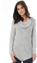 Iz Byer Juniors' V-Hem Cowlneck Sweater