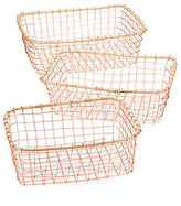 Southern Living Modern Metals Collection Copper-Plated Storage Basket Set