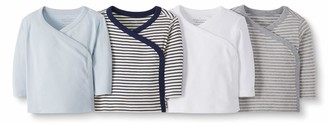 Moon and Back by Hanna Andersson Baby 4-Pack Organic Cotton Long Sleeve Side Snap Shirt