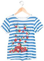 Stella McCartney Girls' Striped Strawberry Print Top