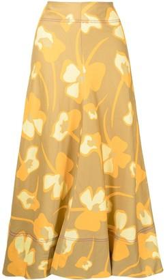 Lee Mathews Wren floral-print skirt