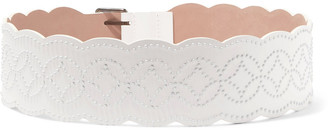 Alaia Scalloped Laser-cut Leather Belt
