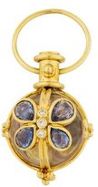 Temple St. Clair 18K Sapphire, Diamond & Rock Crystal Butterfly Amulet Pendant