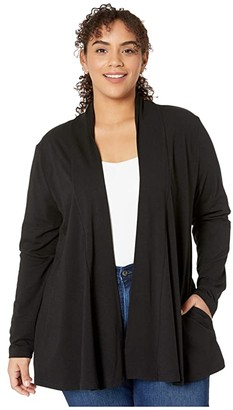 Fresh Produce Plus Size Cleo Cardigan with Pockets (Black) Women's Sweater