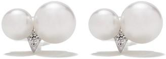 TASAKI 18kt white gold Akoya pearl diamond earrings