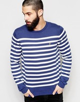 Farah Jumper With Breton Stripe Regular Fit