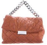 Stella McCartney Small Becks Quilted Shaggy Deer Shoulder Bag