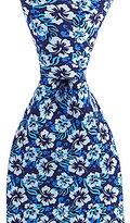 Roundtree & Yorke Trademark Hibiscus-Print Silk Tie