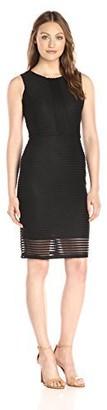 Lark & Ro Amazon Brand Women's Sleeveless 3D Stripe Sheath Dress