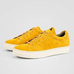 Vagabond Ochre Zoe Suede Sneakers - 37 - White/Yellow