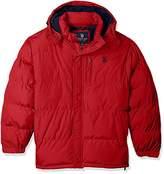 U.S. Polo Assn. Mens Standard Puffer Jacket With Polar Fleece Lining