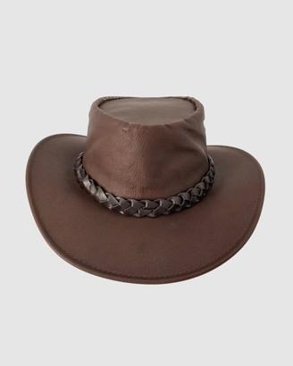 Jacaru - Brown Hats - Jacaru 1150 Kangaroo Breeze Hat - Size One Size, Small at The Iconic