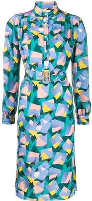 Coach geometric print shirt dress