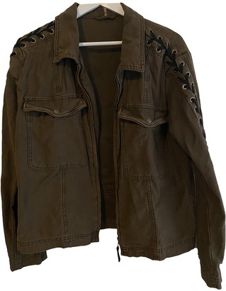 Free People Khaki Cotton Jackets