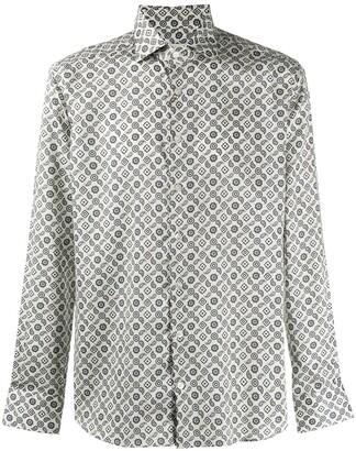Etro Tie Micro-Paisley print shirt
