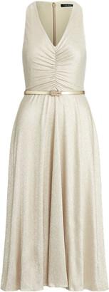Ralph Lauren Metallic Bodre Dress