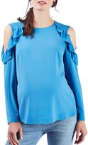 Topshop Ruffled Cold Shoulder Blouse (Maternity)