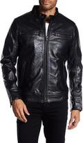 Rogue Men's Zip Front Leather Moto Jacket