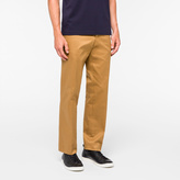Paul Smith Men's Standard-Fit Tan Cotton-Twill Stretch Chinos