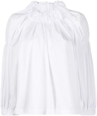 Comme des Garcons Elasticated Neckline Cotton Blouse