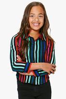 Boohoo Girls Striped Shirt multi