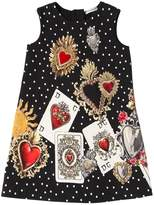 Dolce & Gabbana Cards & Hearts Cotton Interlock Dress