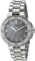 Oris Women's 73376524143MB Aquis Analog Display Swiss Automatic Silver Watch