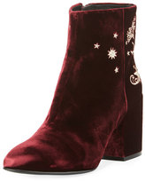 Ash Elixir Embroidered Velvet Boot, Bordeaux