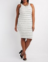 Charlotte Russe Plus Size Racer Front Bodycon Dress