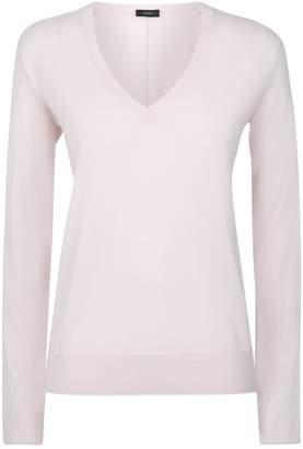 Joseph Fine-Knit V-Neck Merino Wool Sweater