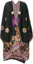 Etro printed cape coat - women - Silk/Polyester/Wool - One Size