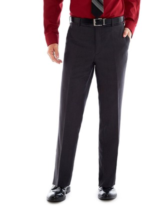 Adolfo Mens Micro Tech Slim Fit Flat Front Suit Pant Dress Pants