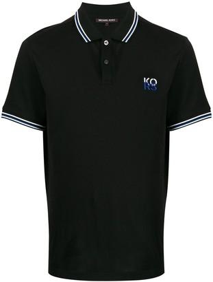 Michael Kors Logo Embroidered Polo Shirt