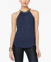 MICHAEL Michael Kors Embellished-Neck Halter Top