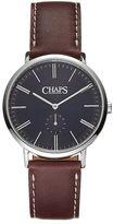 Chaps Men's Dunham Leather Watch