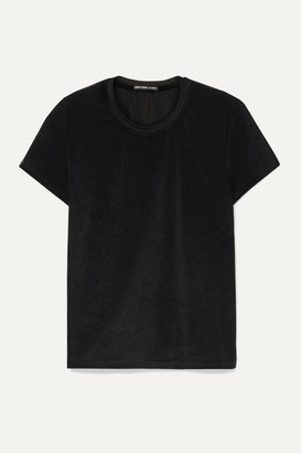 James Perse Stretch-velvet T-shirt - Black