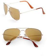 Steve Madden 63mm Aviator Sunglasses