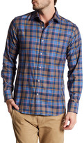 James Tattersall Long Sleeve Classic Fit Plaid Shirt