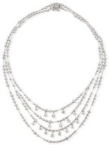 Leo Pizzo Round & Pear-Shaped Diamond Bib Necklace